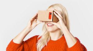 Google Cardboard 360° video headset viewer
