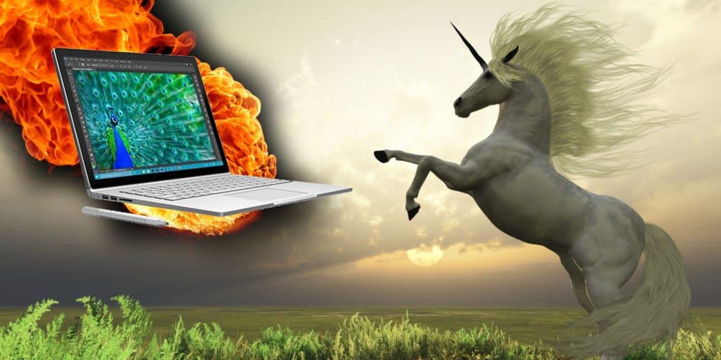 Unicorn Radness Microsoft Surface Book