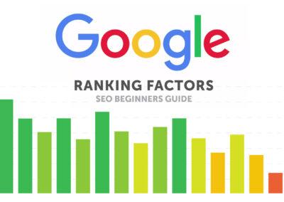 SEO Beginners Guide: Google Ranking Factors Updated