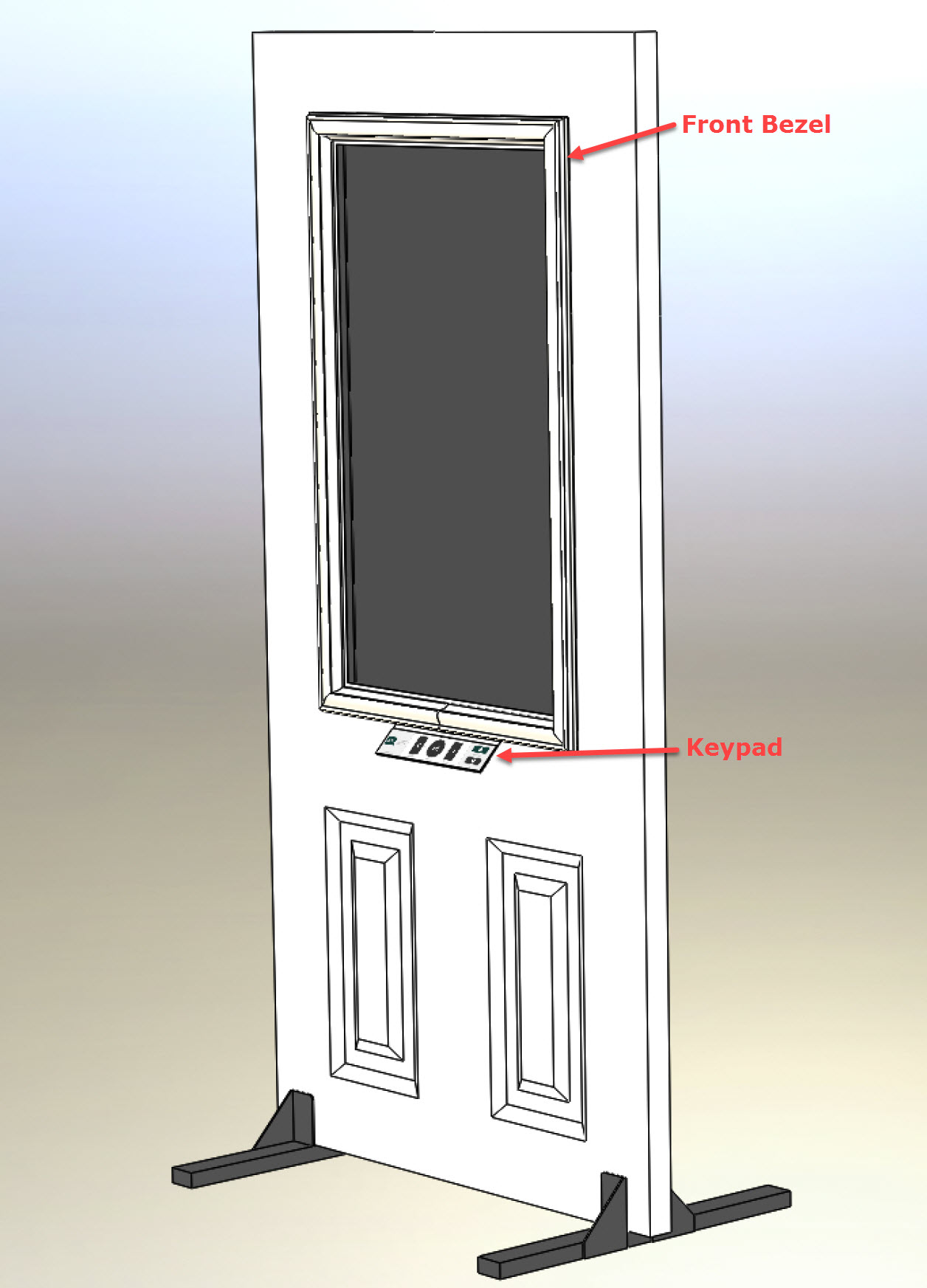Digital Door Display Rendering