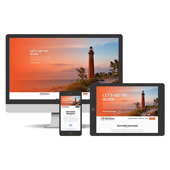 Logo Rebrand & Site Design – West Michigan Film Office