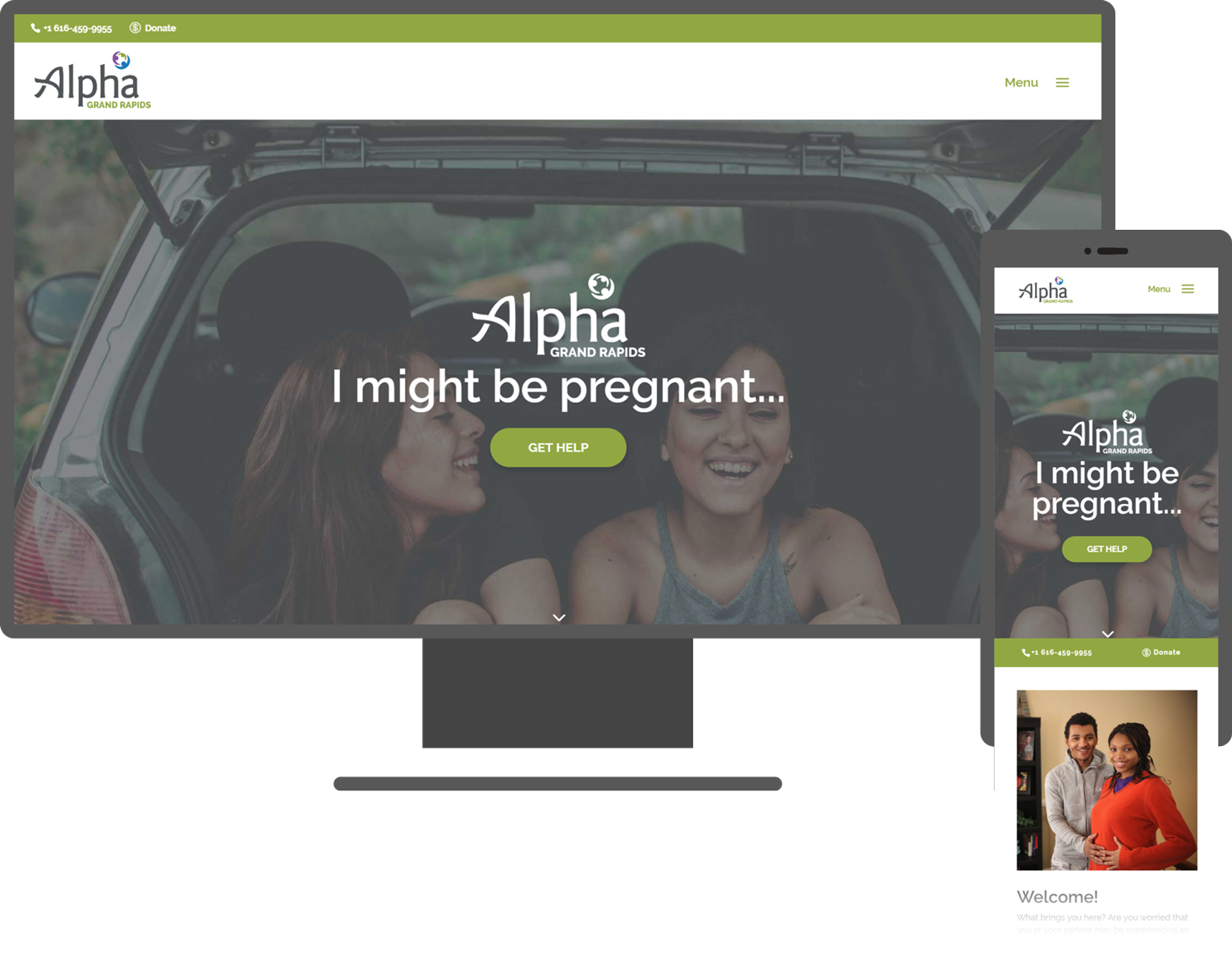 alpha website mock up