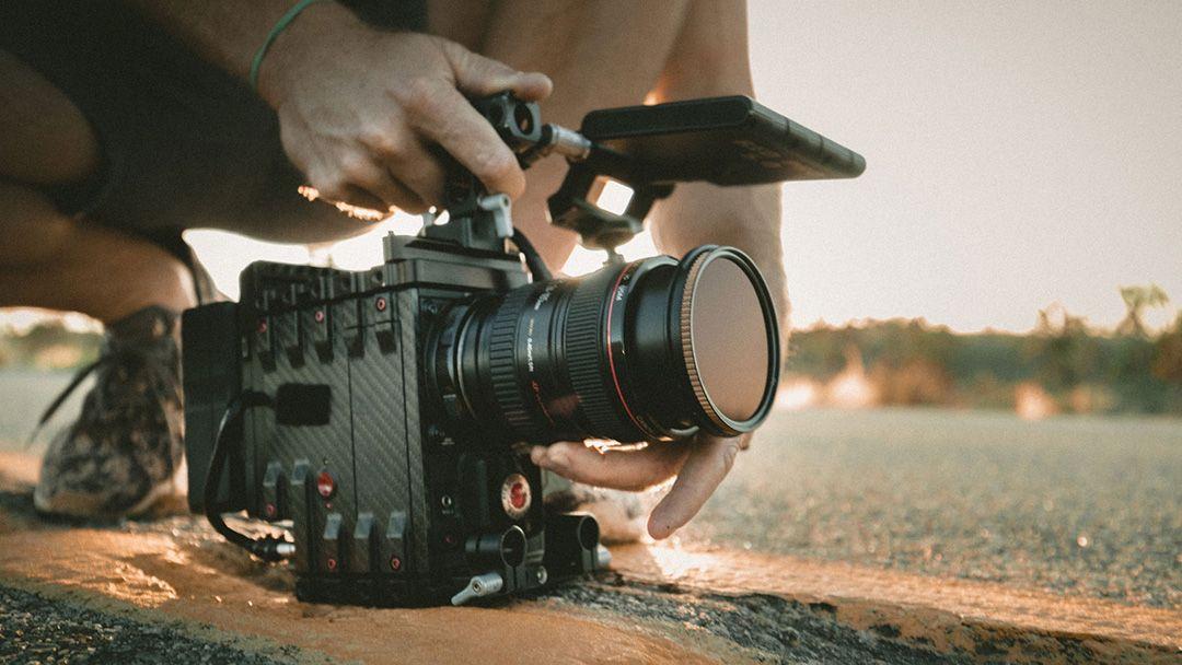 film camera on beach