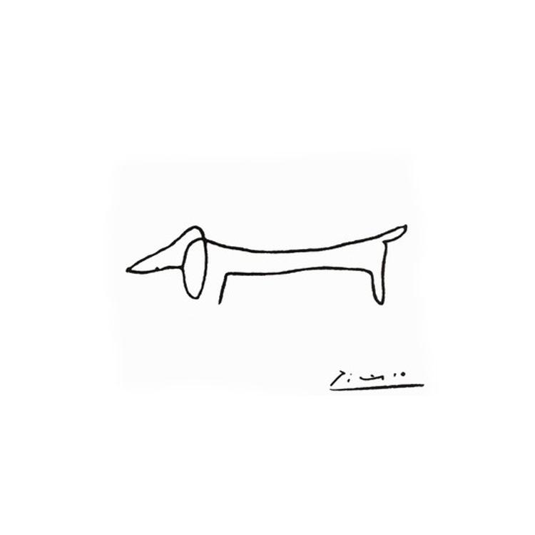 Pablo Picasso Single Line Dog