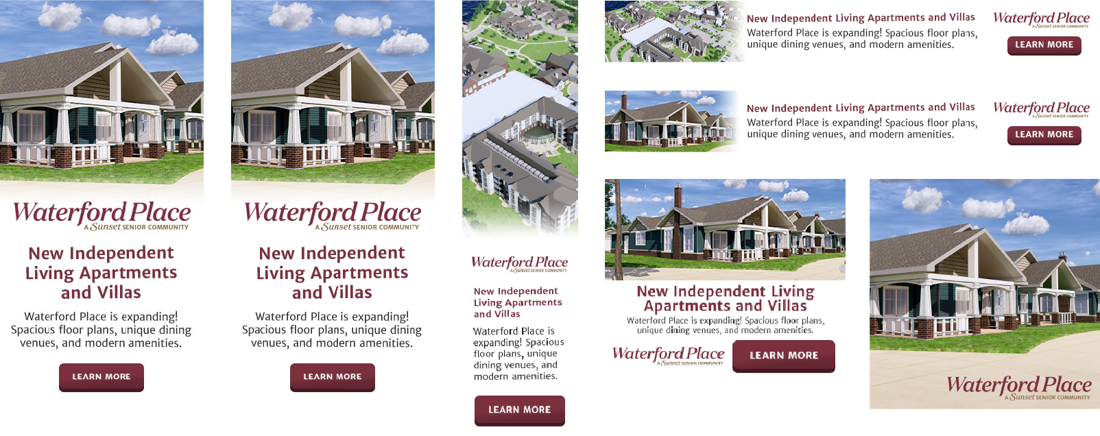 DVS Portfolio - Waterford Place Banner Ads