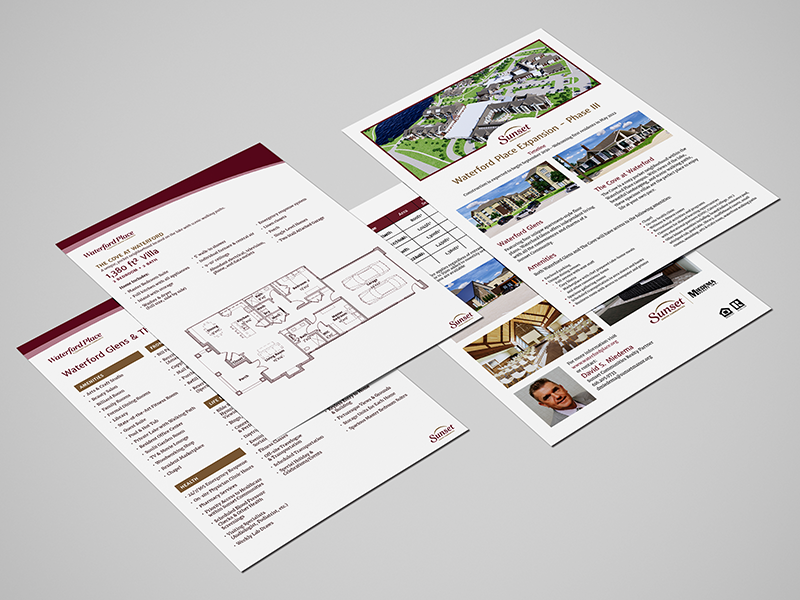 DVS Portfolio - Waterford Place Printed Materials