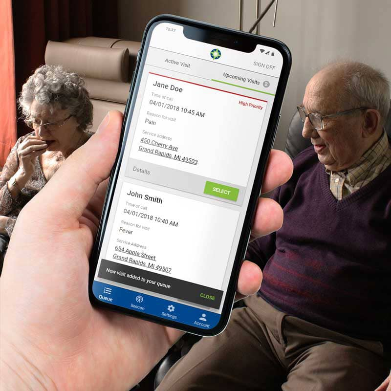 Hospice of Michigan – Triage App Design