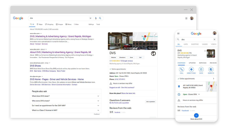 google zero click mockup