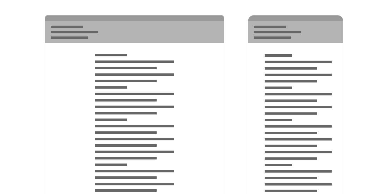 basic email mockup