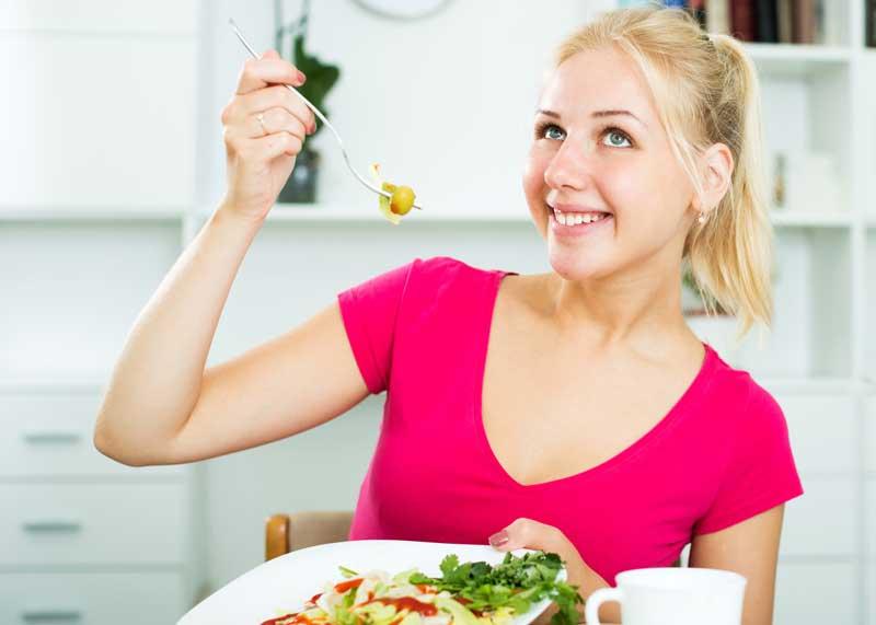 bad stock salad woman